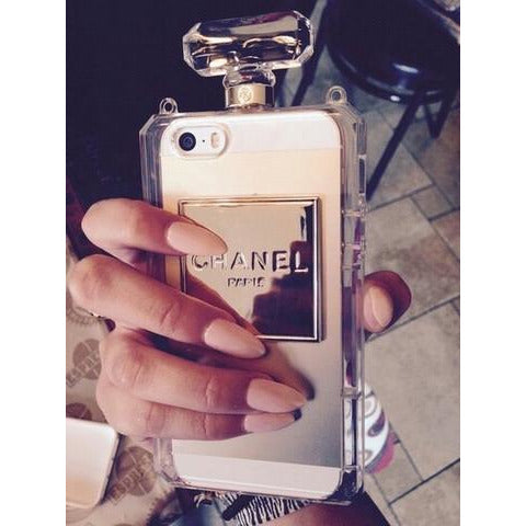 """Bottle of Perfume"" iPhone Case (Clear) - KryptikRose®"