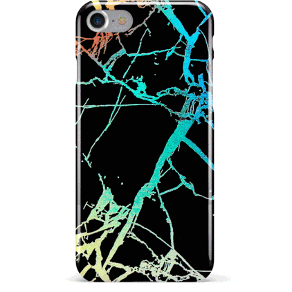 Crackle/Marble Holographic iPhone Case - Black (2 Sizes) - Case - KryptikRose®