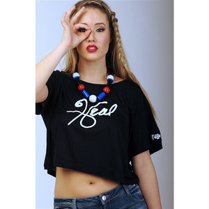 """I Love Me"" Collection - 'HEAL' Black Cropped Top - Crop Tops - KryptikRose®"