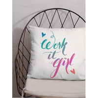 """Work it Girl"" Square Cushion/Pillow - Homeware - KryptikRose®"