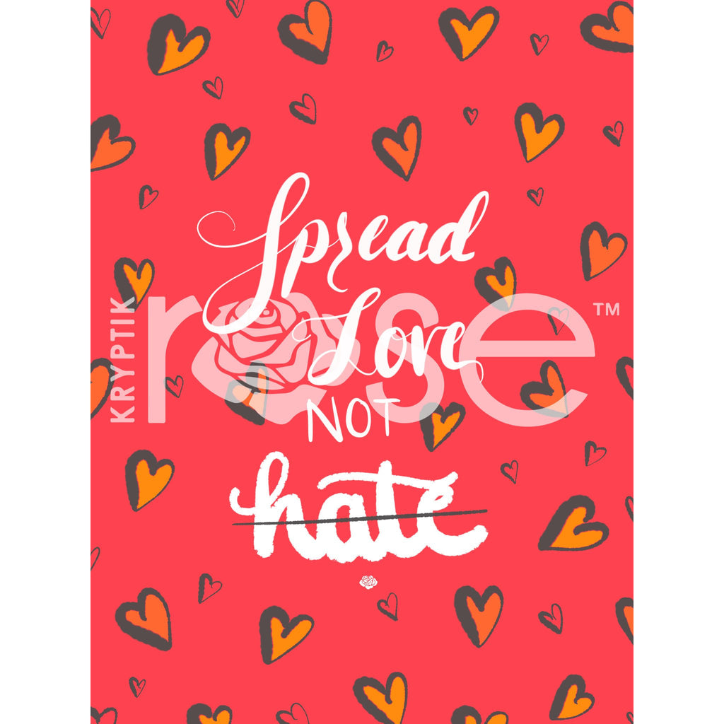 Spread Love Not Hate - iPhone/iPad Wallpaper - KryptikRose®