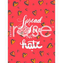 Spread Love Not Hate - iPhone/iPad Wallpaper