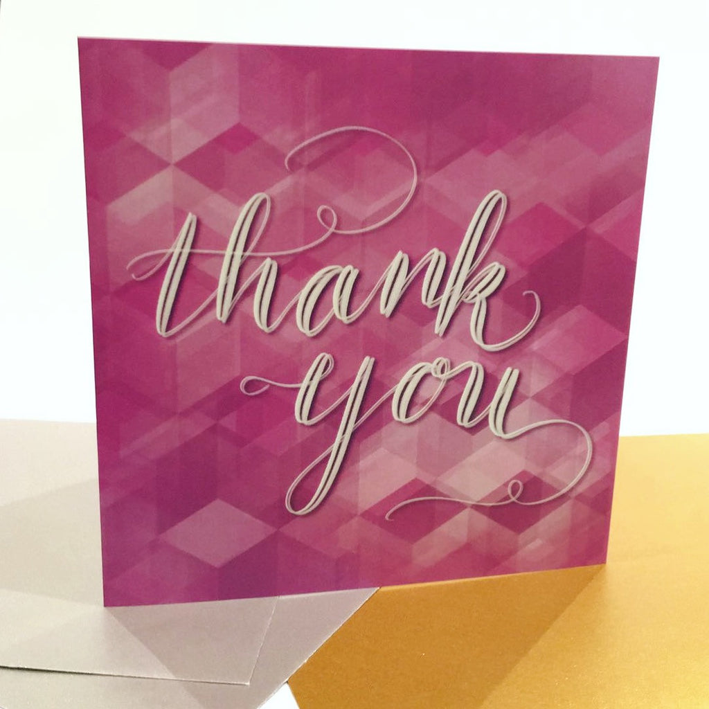 """Thank You"" Greeting Card - Greeting Cards - KryptikRose®"