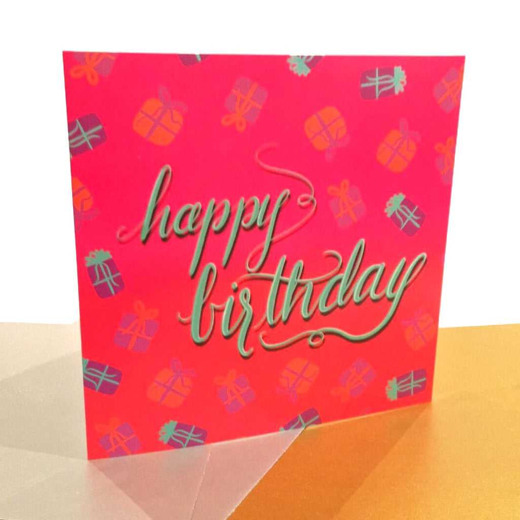 """Happy Birthday"" Greeting Card - Greeting Cards - KryptikRose®"