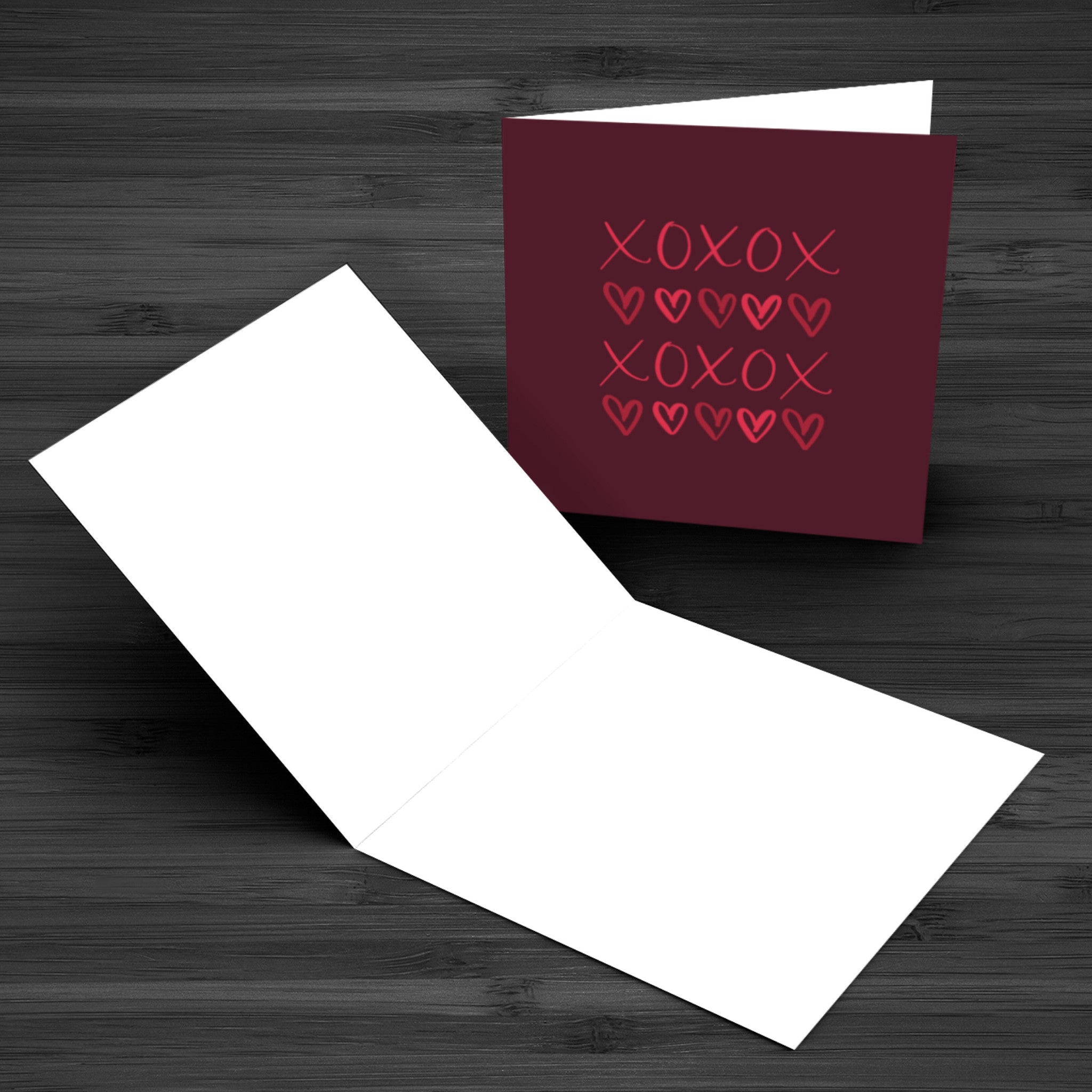 """XOXO"" Greeting Card - Greeting Cards - KryptikRose®"