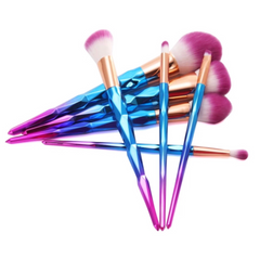 Ombre - Blue Pink with Purple Dip Dye Bristles Make-Up Brush Set (7pcs) - Cosmetics - KryptikRose®