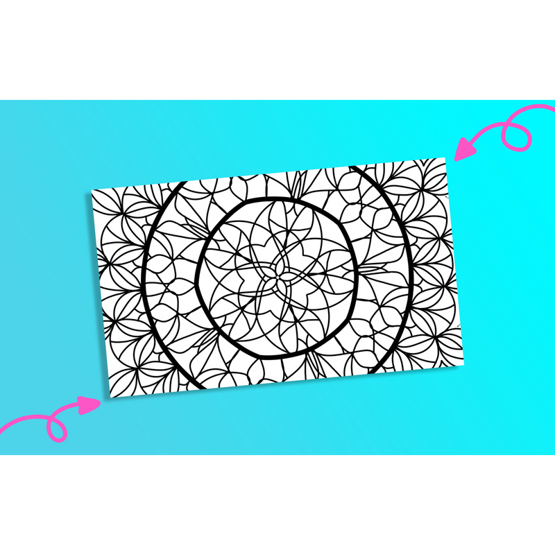 Floral Mandala 1 - Printable Colouring Page - Digital Download -  - KryptikRose®