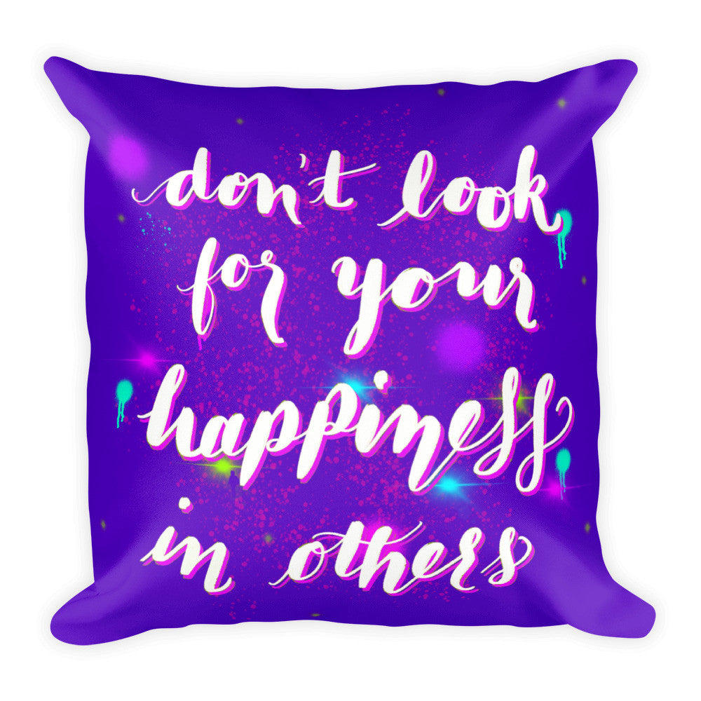 """Happiness"" Square Cushion/Pillow - KryptikRose®"