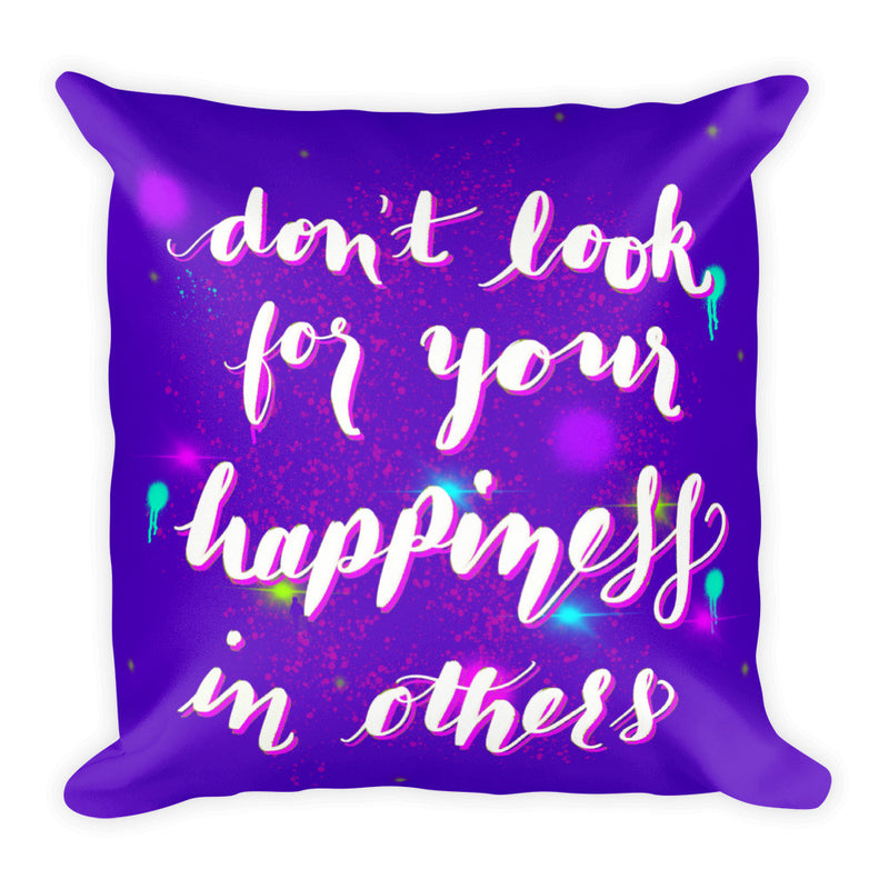 """Happiness"" Square Cushion/Pillow - Homeware - KryptikRose®"