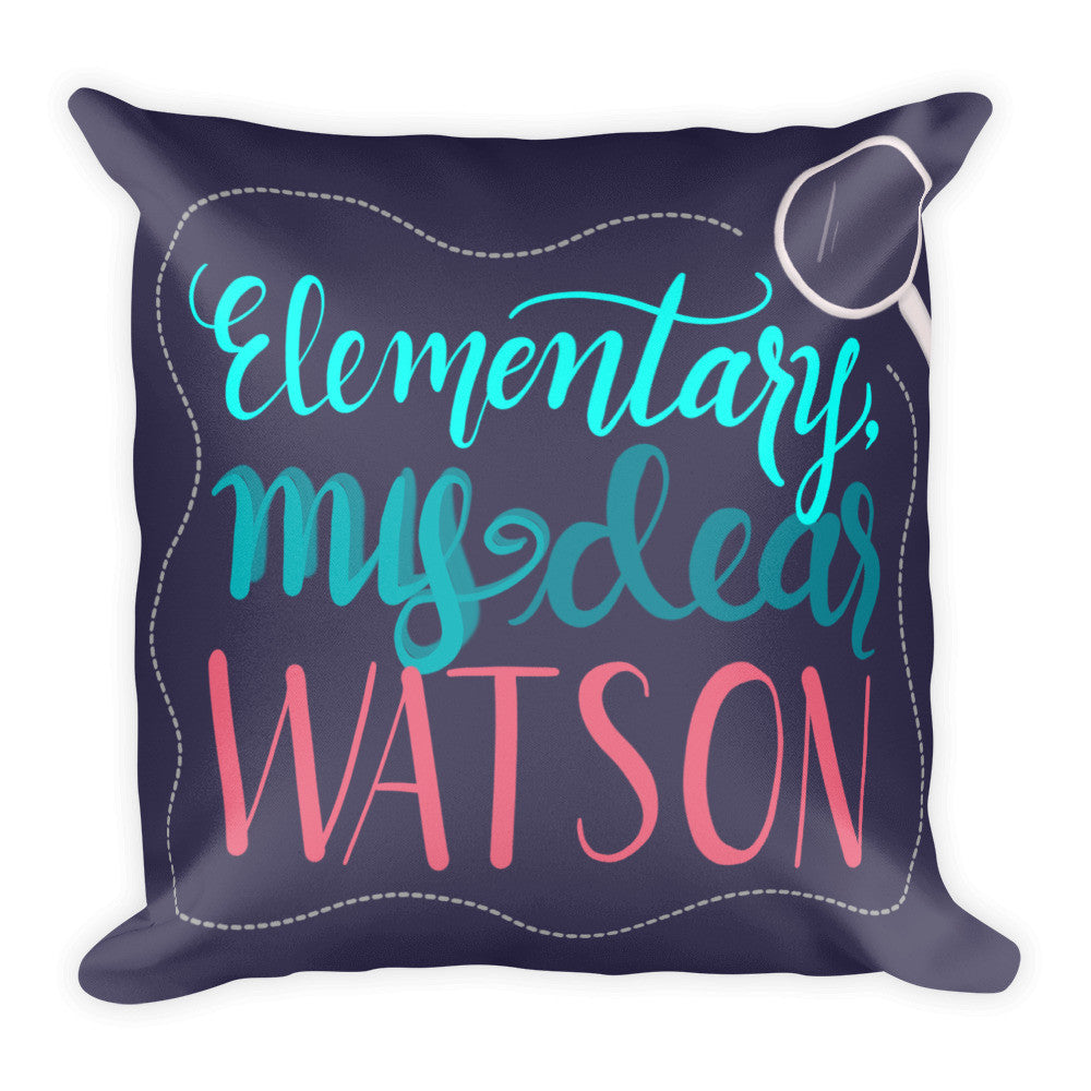 """Watson"" Square Cushion/Pillow -  - KryptikRose®"