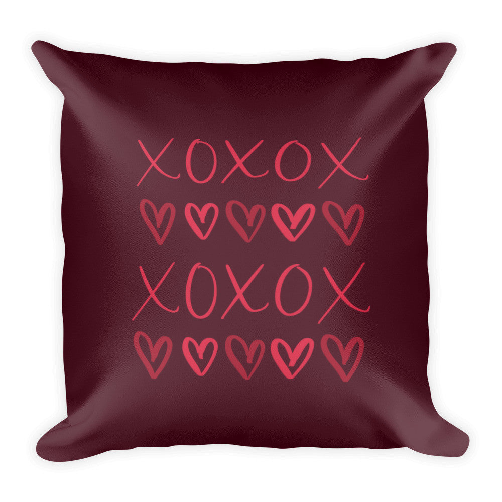"""XOXO"" Square Cushion/Pillow - Homeware - KryptikRose®"