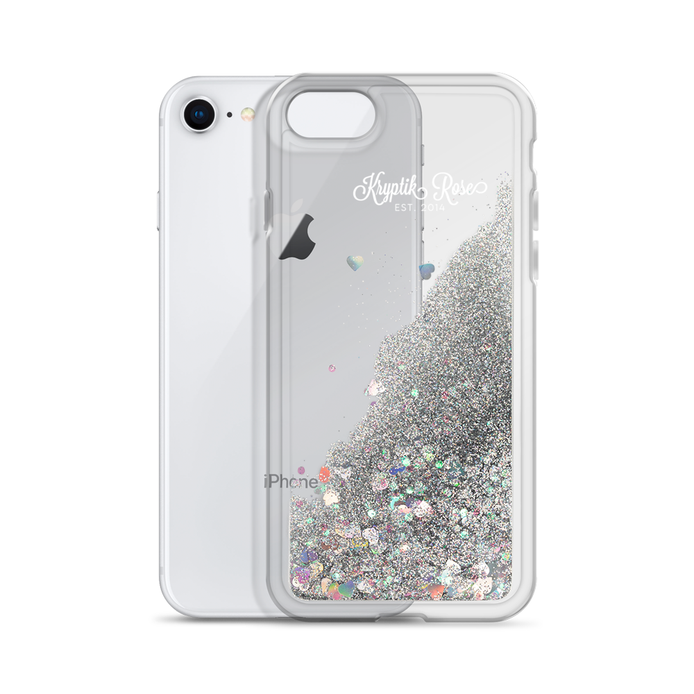 'Kryptik Rose Ornate Logo' Liquid Glitter Phone Case (3 Glitter Colours) -  - KryptikRose®