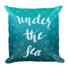 """Under the Sea"" Square Cushion/Pillow"