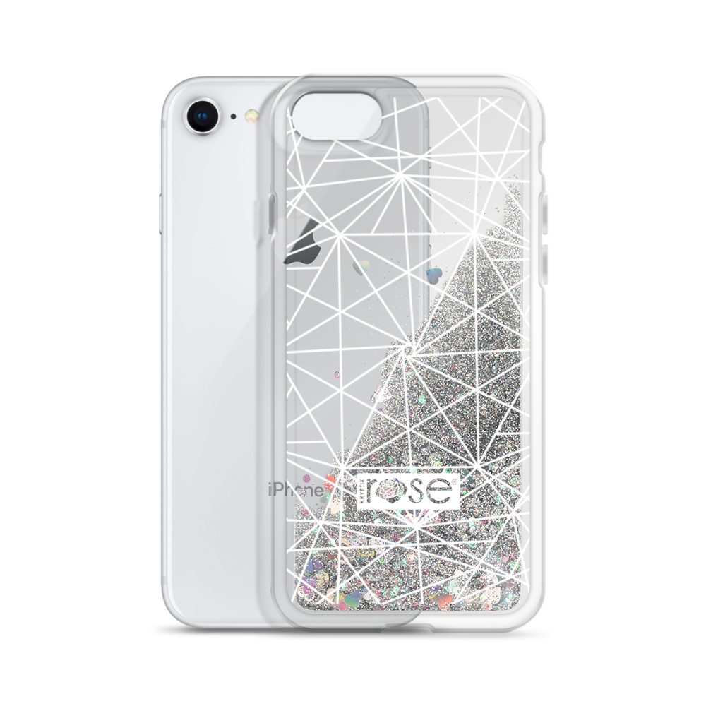 'Geo Mandala' Liquid Glitter Phone Case (3 Glitter Colours) -  - KryptikRose®