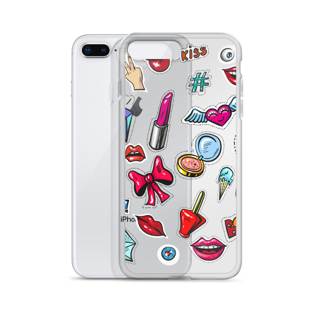 'Kiss & Lips' iPhone Case (For Every iPhone above iPhone 6) -  - KryptikRose®