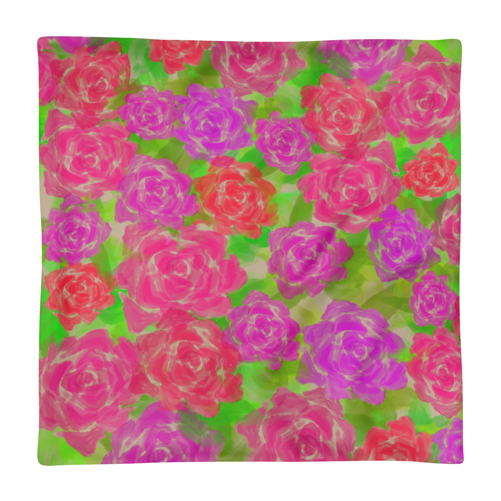 'Roses' Pillow Case only - KryptikRose®