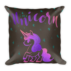 """I Am a Unicorn"" Square Cushion/Pillow - Homeware - KryptikRose®"