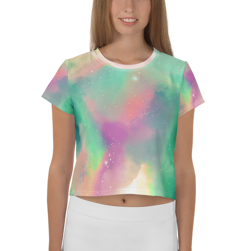 'Pastel Galaxy' Crop Tee -  - KryptikRose®