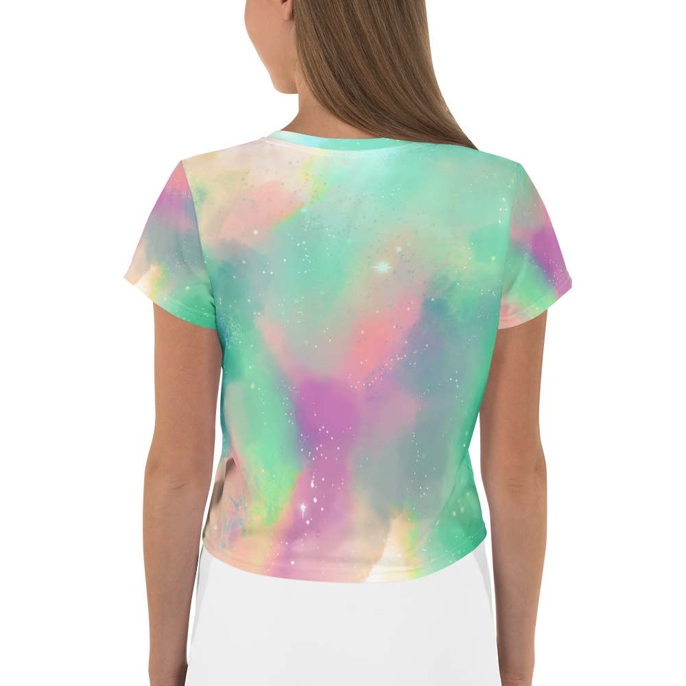 'Pastel Galaxy' Crop Tee - KryptikRose®