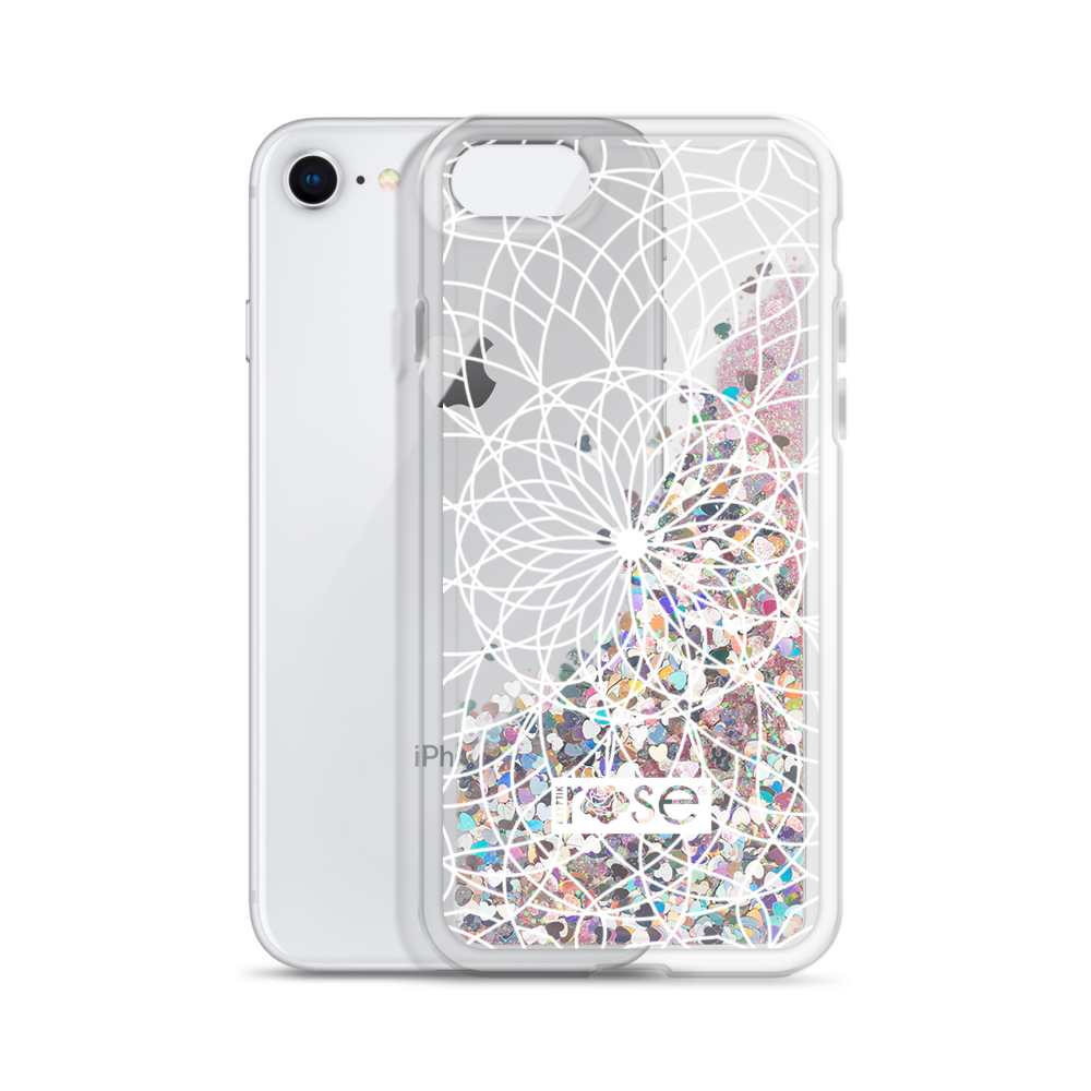'Floral Mandala' Liquid Glitter Phone Case (3 Glitter Colours) -  - KryptikRose®