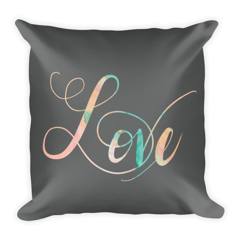 """Love"" Square Cushion/Pillow - Homeware - KryptikRose®"