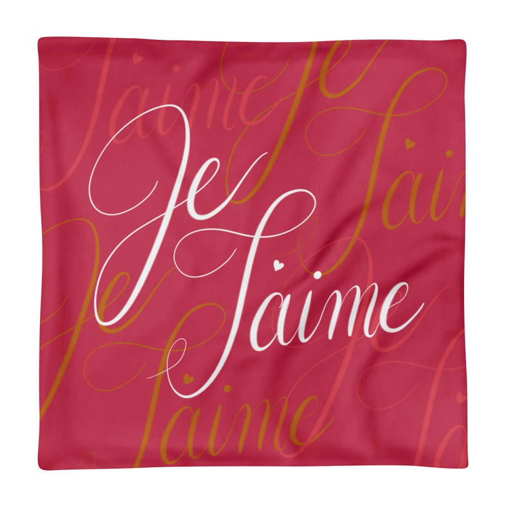 'Je T'aime' Pillow Case only - KryptikRose®