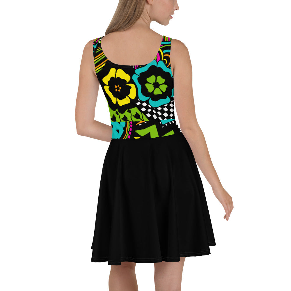 'Bored Panda' Skater Dress - Skater Dress - KryptikRose®