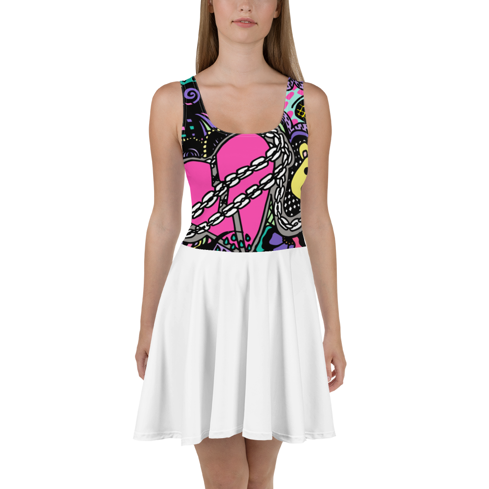 'OG broken Heart' Skater Dress - KryptikRose®