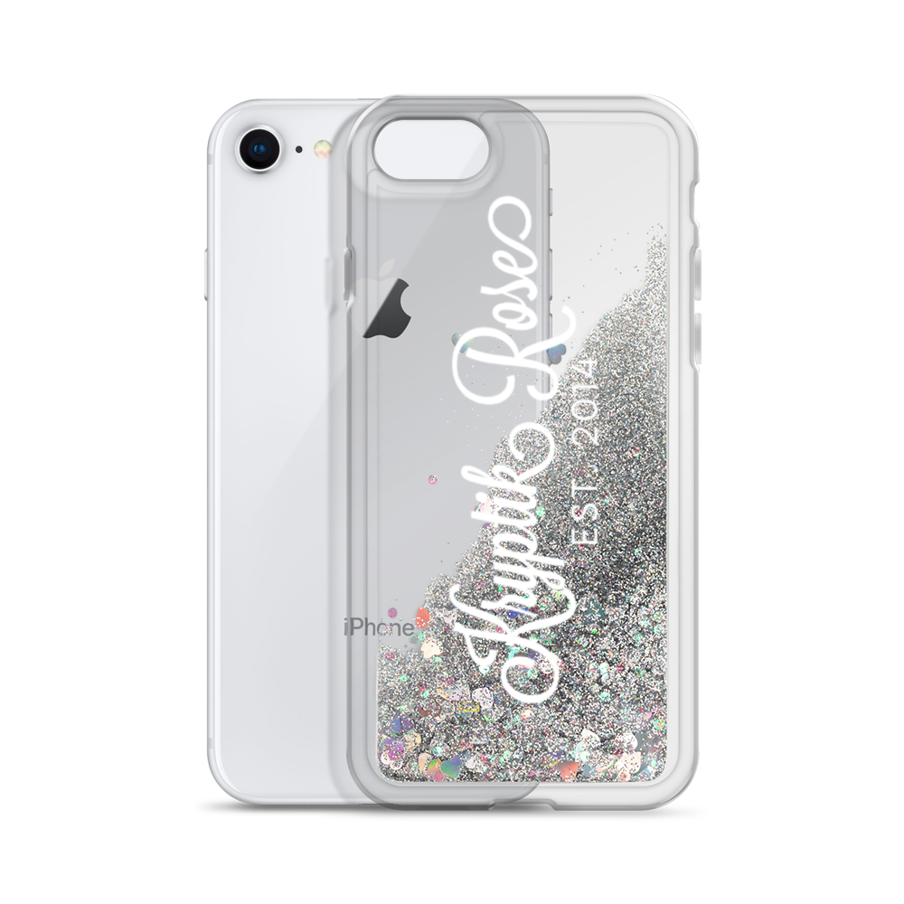 'Kryptik Rose Ornate Large Logo'  Liquid Glitter Phone Case (3 Glitter Colours) -  - KryptikRose®