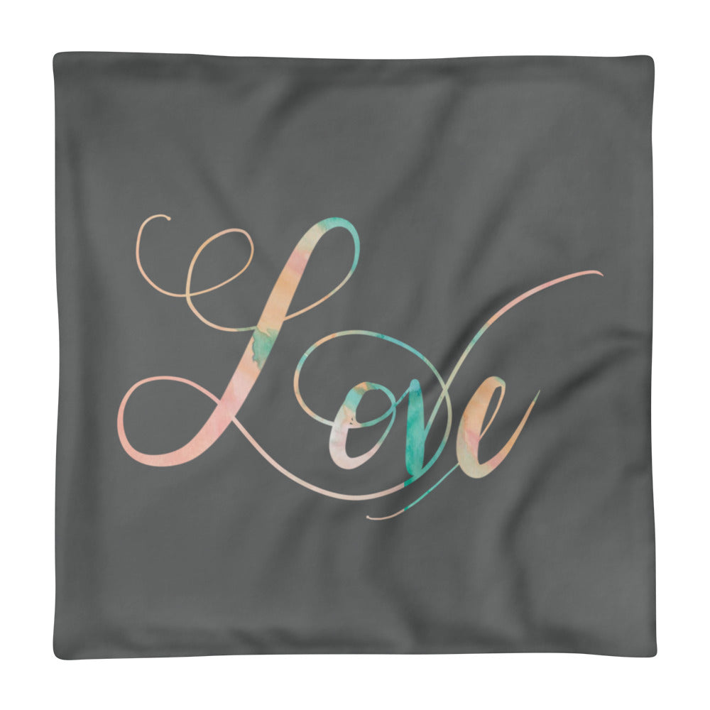 'Love' Pillow Case only -  - KryptikRose®