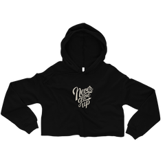 'Never Give Up' Crop Hoodie -  - KryptikRose®