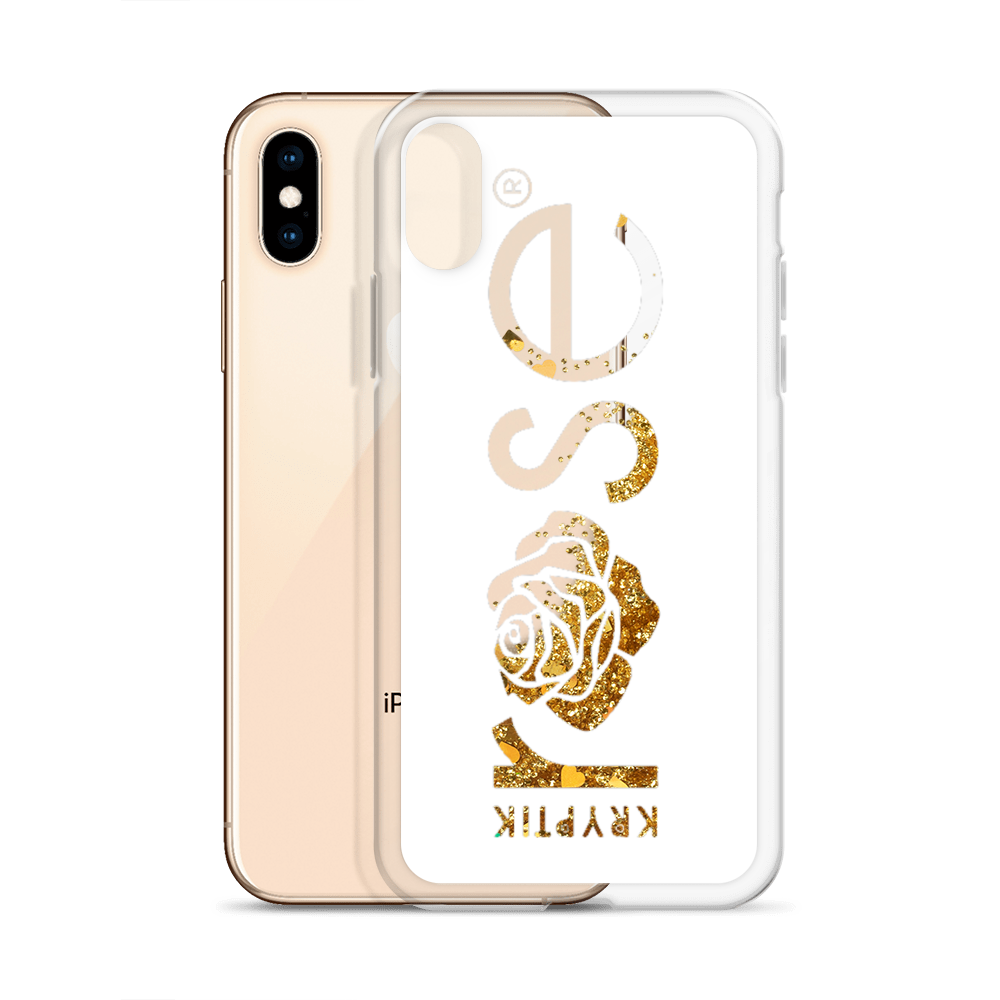 'KR OG Logo White' Liquid Glitter Phone Case (3 Glitter Colours) -  - KryptikRose®