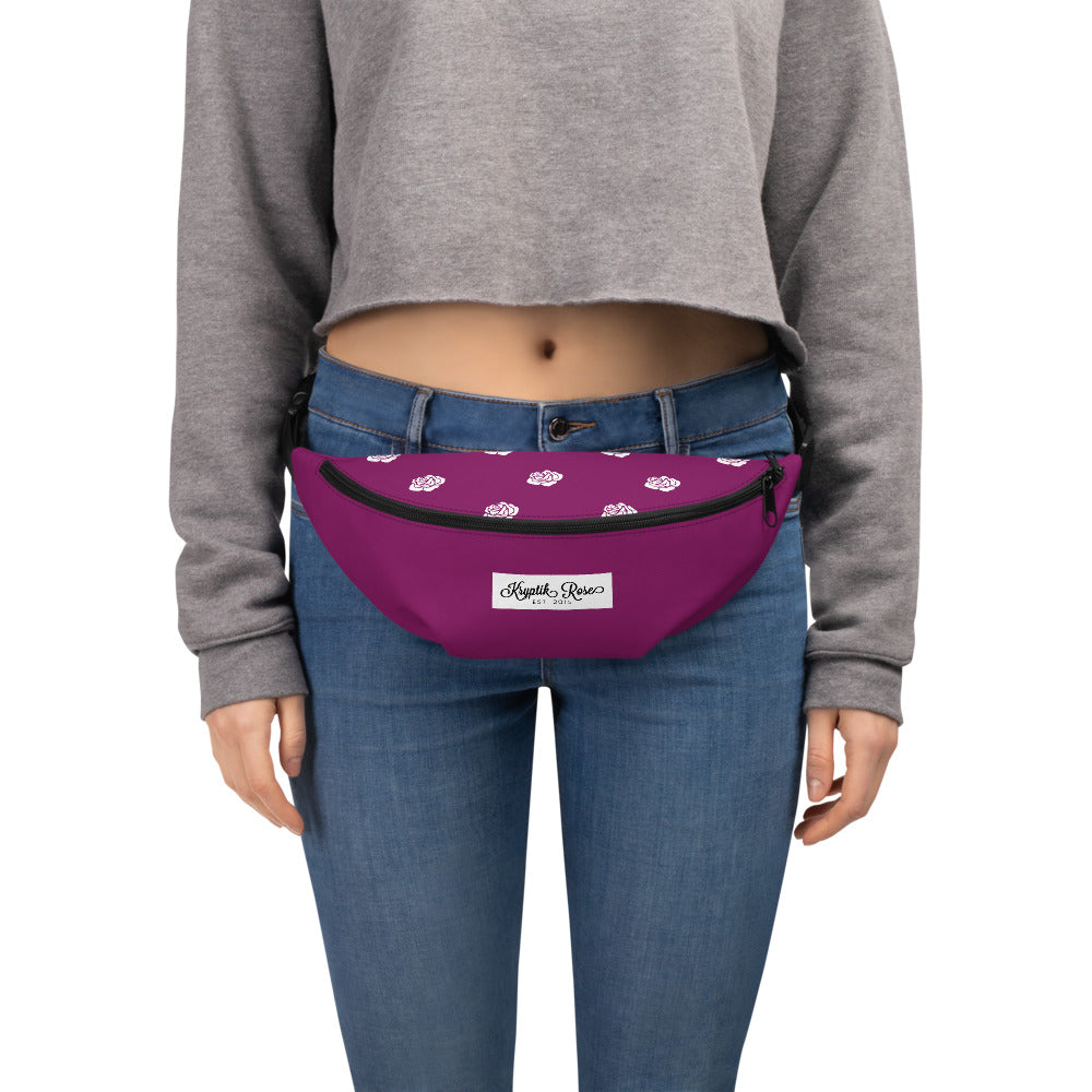 KryptikRose® Blackberry Rose Print Fanny Pack -  - KryptikRose®
