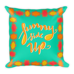 """Sunny Side Up"" Square Cushion/Pillow"