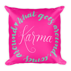 """Karma"" Square Cushion/Pillow"