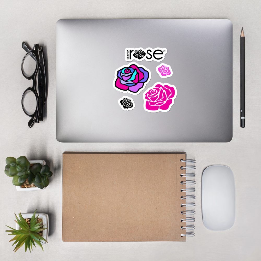 """KR Roses Multi-Coloured"" Bubble-Free Stickers -  - KryptikRose®"