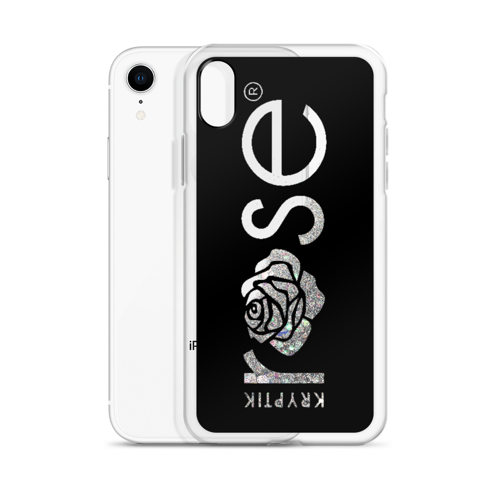'KR OG Logo Black' Liquid Glitter Phone Case (3 Glitter Colours) -  - KryptikRose®