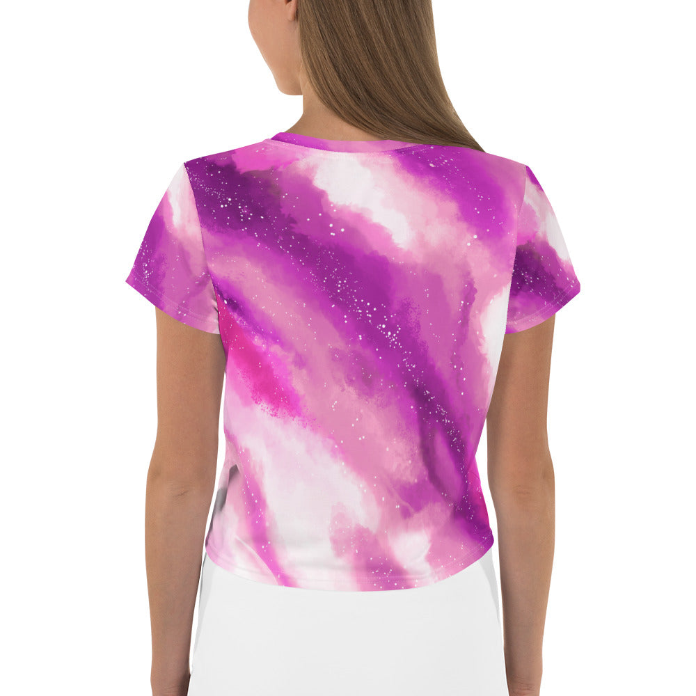 'Pink Galaxy' Crop Tee -  - KryptikRose®