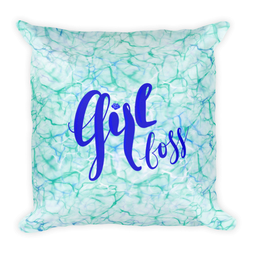 """Girl Boss"" Square Cushion/Pillow - KryptikRose®"