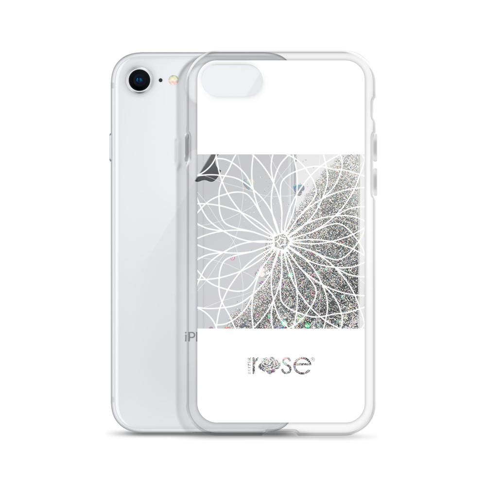 'Stain Glass Peep Through' Liquid Glitter Phone Case (3 Glitter Colours) -  - KryptikRose®