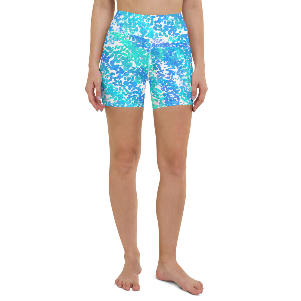 """Ocean Spray"" Yoga Shorts -  - KryptikRose®"