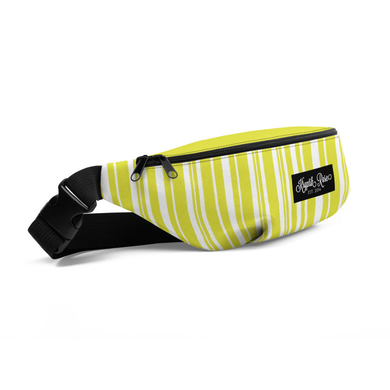 KryptikRose® Lime Electra Ascending Stripe Fanny Pack -  - KryptikRose®