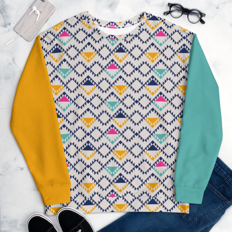 'Tri-Yellow Bright' Unisex Sweatshirt -  - KryptikRose®
