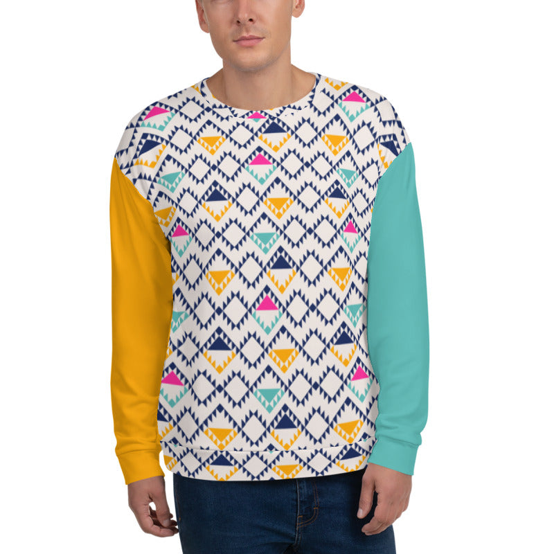 'Tri-Yellow Bright' Unisex Sweatshirt - KryptikRose®