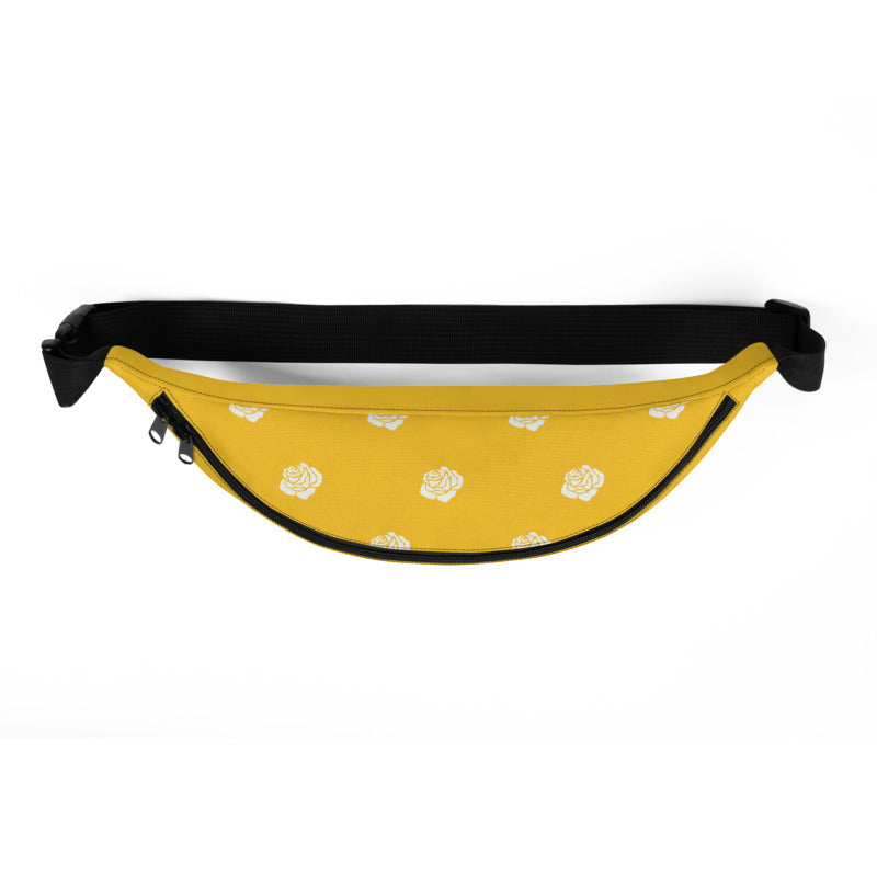 KryptikRose® Honey Mustard with Rose Print Fanny Pack -  - KryptikRose®