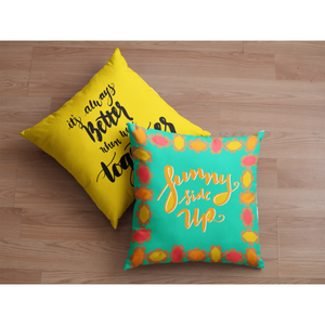 """Sunny Side Up"" Square Cushion/Pillow - Homeware - KryptikRose®"