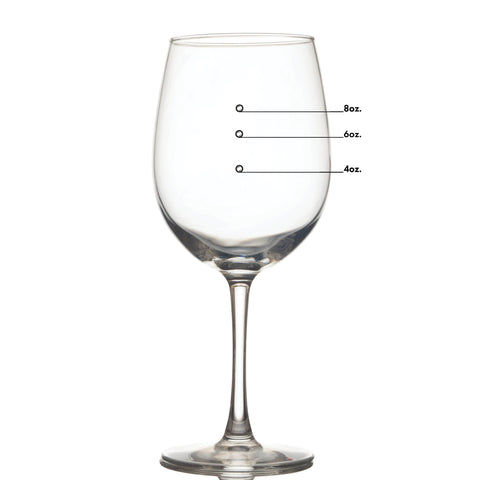 All Purpose Measuring Wine Glass with Measuring Marks