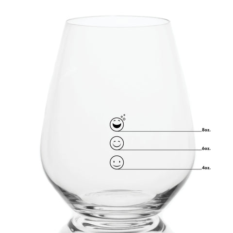 Bulk Premium Stemless Measuring Wine Glasses with Measuring Marks