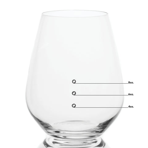 Elegance Premium Stemless Measuring Wine Glasses with Measuring Marks