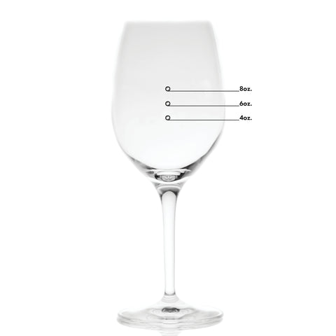 Large Elegance Premium Measuring Wine Glass with Measuring Marks